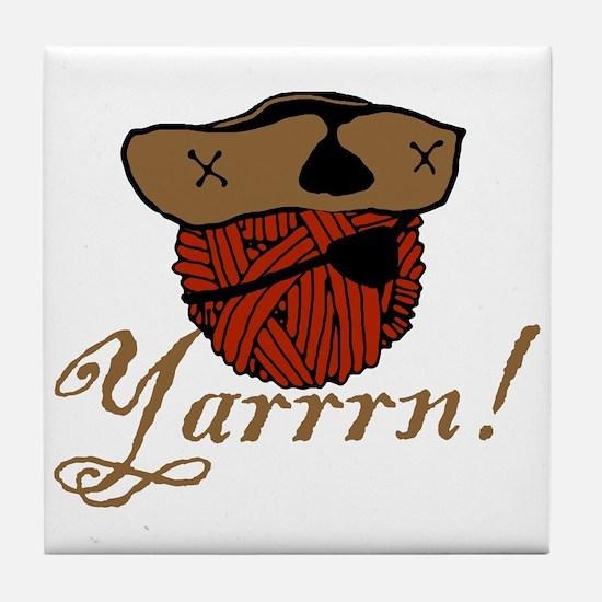 Yarrrn Tile Coaster