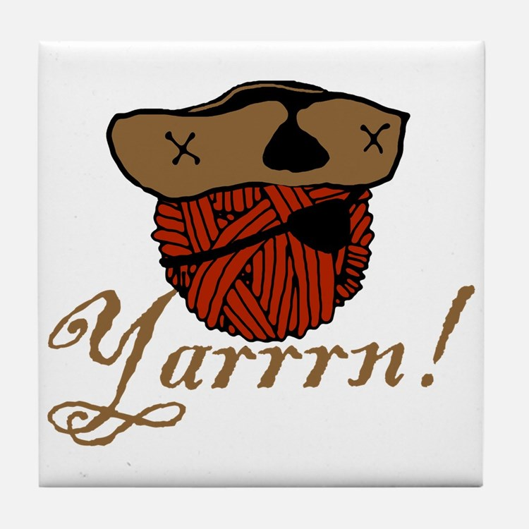 Yarrrn Tile Coaster