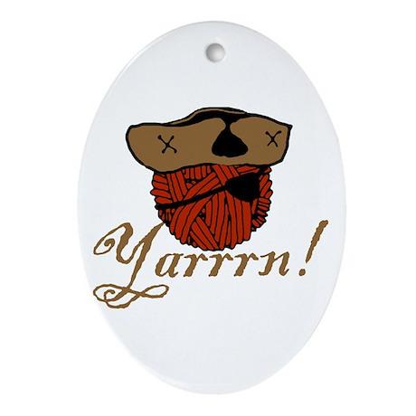 Yarrrn Oval Ornament
