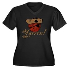 Yarrrn Women's Plus Size V-Neck Dark T-Shirt
