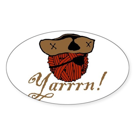 Yarrrn Oval Sticker