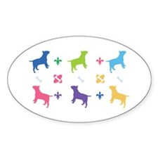 Miniature Bull Terrier Designer Oval Decal