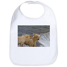 Grizzly Bear mom and cub Bib