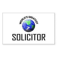 World's Greatest SOLICITOR Rectangle Decal