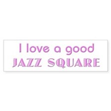 Jazz Square Bumper Bumper Sticker