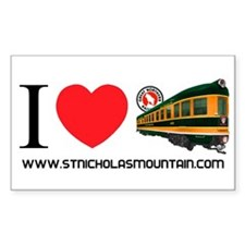 """I Love St. Nicholas Mountain"" Decal"