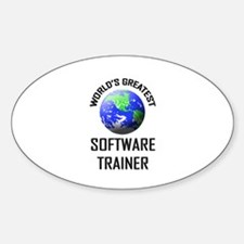 World's Greatest SOFTWARE TRAINER Oval Decal