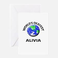 World's Okayest Alivia Greeting Cards