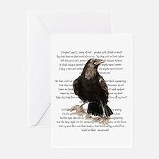 Edgar Allen Poe The Raven Poem Greeting Cards