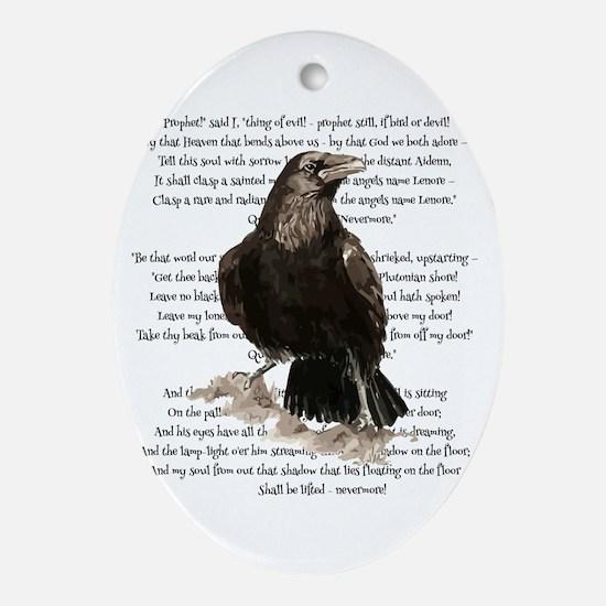 Edgar Allen Poe The Raven Poem Oval Ornament