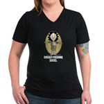 Breast-feeding Sucks Women's V-Neck Dark T-Shirt