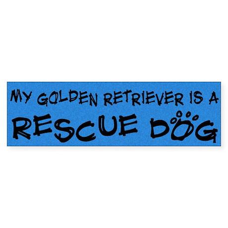 Rescue Dog Golden Retriever Bumper Sticker