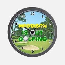 Maddison is Out Golfing - Wall Clock
