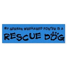 Rescue Dog German Wirehair Pointer Bumper Bumper Sticker
