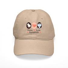 Peace Love Hanukkah Chanukah Baseball Cap