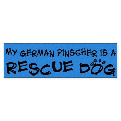 Rescue Dog German Pinscher Bumper Sticker