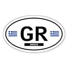 Greece 2F Oval Decal