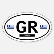 Greece 2F Oval Decal