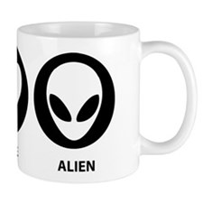 Peace Love Alien Mug