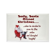 Santa Missed Christmas Rectangle Magnet