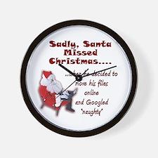 Santa Missed Christmas Wall Clock