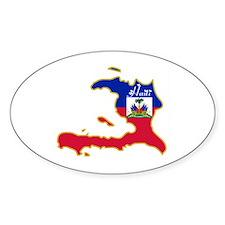 Cool Haiti Oval Decal