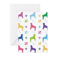 Rottweiler Designer Greeting Cards (Pk of 10)