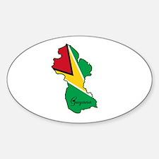 Cool Guyana Oval Decal