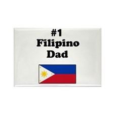 #1 Filipino Dad Rectangle Magnet