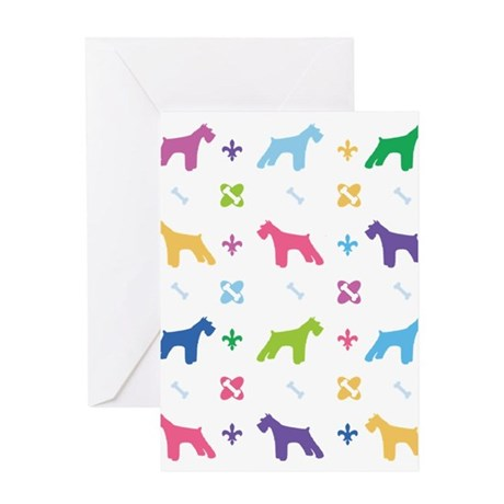 Schnauzer Designer Greeting Card