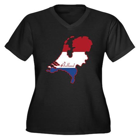 Cool Dutch Women's Plus Size V-Neck Dark T-Shirt