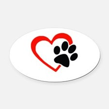 Unique Pets dogs english setters Oval Car Magnet