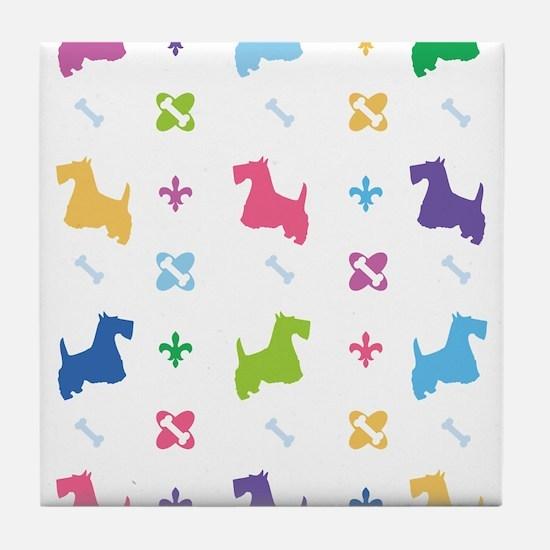 Scottie Designer Tile Coaster
