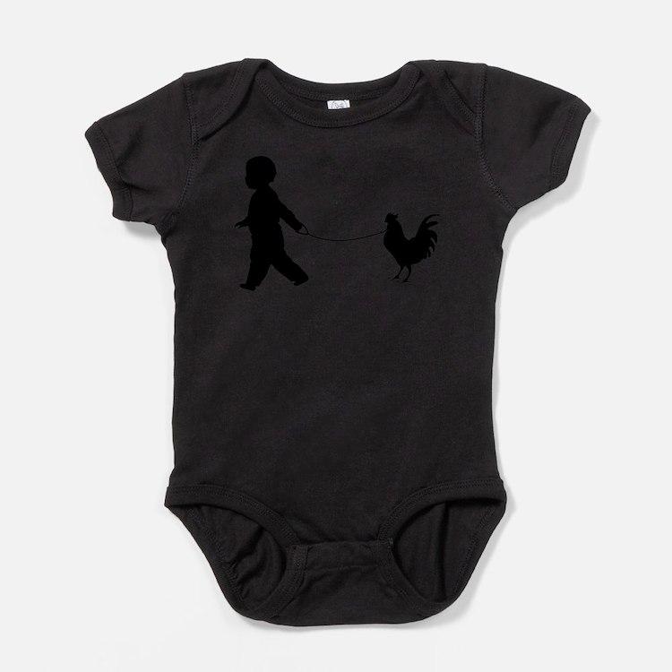 Cute Birds rooster Baby Bodysuit
