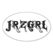 JRZGRL (Jersey Girl) Oval Decal