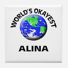 World's Okayest Alina Tile Coaster