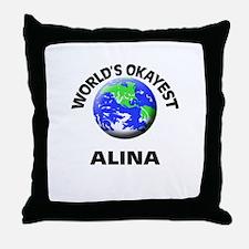 World's Okayest Alina Throw Pillow