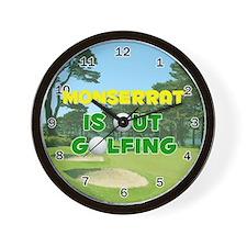 Monserrat is Out Golfing - Wall Clock
