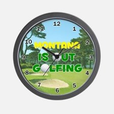 Montana is Out Golfing - Wall Clock