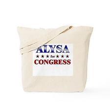 ALYSA for congress Tote Bag