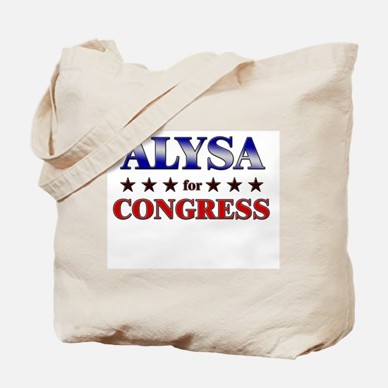 ALYSA for congress Tote Bag