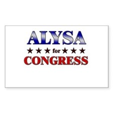 ALYSA for congress Rectangle Decal