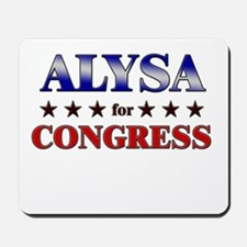 ALYSA for congress Mousepad