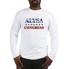 ALYSA for congress Long Sleeve T-Shirt