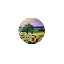 """""""Sunflowers in Tuscany"""" Mini Button"""