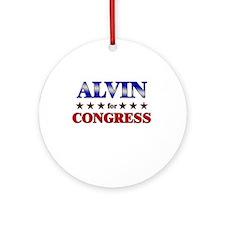 ALVIN for congress Ornament (Round)