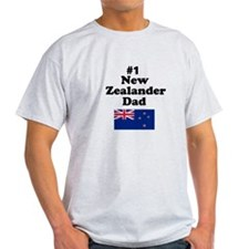 #1 New Zealander Dad T-Shirt