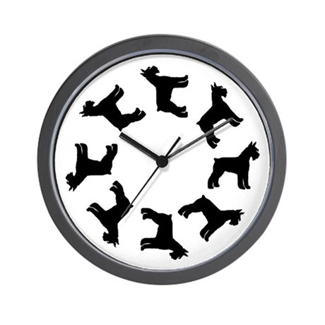 Schnauzer Circle Wall Clock