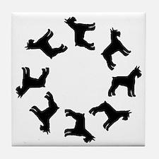 Schnauzer Circle Tile Coaster