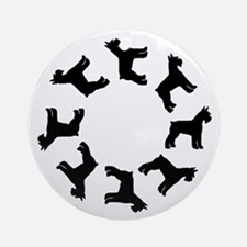 Schnauzer Circle Ornament (Round)